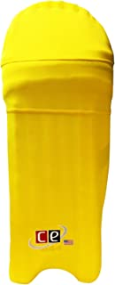 CE Colored Cricket Batting Pads Covers - Leg Guards Clads by Cricket Equipment USA (Gold Yellow, Extra-Large)