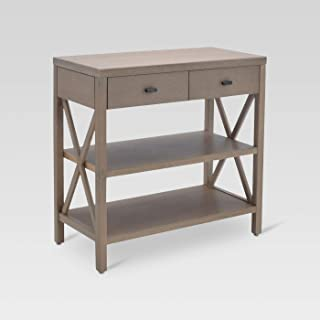 Owings Console Table 2 Shelf with Drawers - Threshold