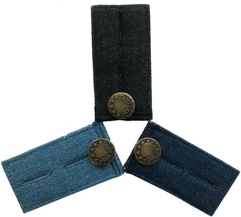Yueser Bouton R/étractable Jeans 10pcs Button Extenders Jeans Bouton R/étractable R/églable D/étachable M/étal Bouton pour V/êtements Jeans Jupes Poignets