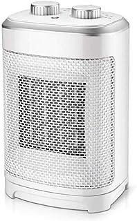 QSM Radiador Eléctrico Calefacción Doméstica Compacto con Ahorro de Energía Mini Calentador 1500W 4 Colores Opcional 220V,Blanco,UNA