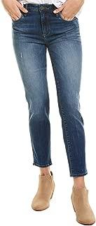 Kut from the Kloth Women's Meghan High Rise Ankle Cigarette Leg Denim Jeans
