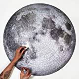 Gradient Puzzle,Full Moon Puzzle,1000 Piece Puzzles for Adults Teens,Large Round Jigsaw Puzzle Moon Difficult and Challenge,Decompression Puzzle Educational Game 2020 New