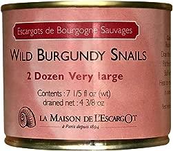 Premium Escargot Wild Burgundy Snails – Rated Number One – Best For Escargot Recipes, Various Sizes … (2 Dozen Very Large)
