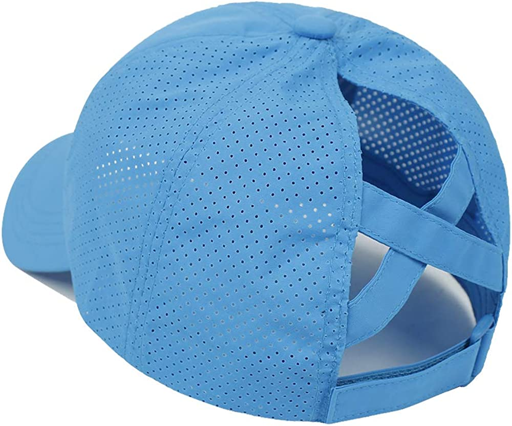 Bonvince Womens Criss Cross Ponytail Hat Quick Drying Baseball Cap Sun Hats UV Protection Sport Cap