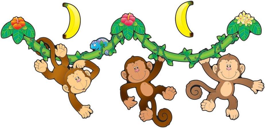 Cheap sale Carson Dellosa Monkey Rare Bulletin Set Board 110099
