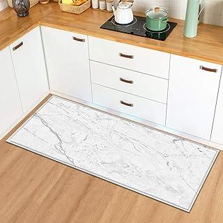 HLXX Köksmatta absorberande matta dörrmatta för entrédörr träkornsmönster sovrum hall golvmatta halkskydd matta A7 40 x 12...