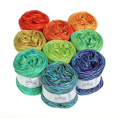 Farbverlaufsgarn Candy Box Mini 1000m 4Fädig Bobbel Wolle (Multivitamin)