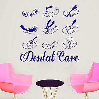 WSLIUXU Clínica dental Proceso de reemplazo dental Etiqueta Clínica dental Aplique de vinilo impermeable Etiqueta de la pared Apliques decorativos de la familia y el jardín Gris oscuro 28 59x57cm