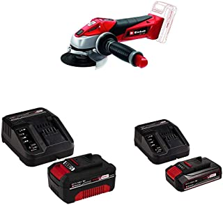 TE-AG 18/115 Li-Solo, Cordless Angle Grinder with Original Einhell 18V 2.5Ah Starter Kit Power X-Change with Einhell Power...