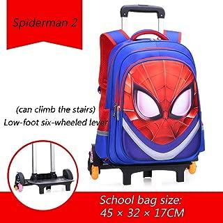 Spiderman Hokaime Dessin anim/é Mignon Enfants Scooter Valise /à roulettes Lazy Trolley Bag Enfants Portent sur Cabine Voyage Roulant Bagages Sac /à roulettes Cadeau Sac