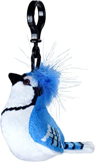 Wild Republic Blue Jay Plush Clip, Stuffed Animal, Bird Toys for Kids, Birders, 4""