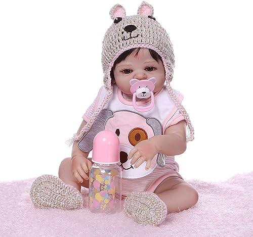 varios tamaños Muñeca Reborn de 48 cm realista de silicona silicona silicona completa para recién nacidos, juguetes, niñas, princesas, ropa, sombrero, chupete, hecho a maño, regaño de cumpleaños  calidad auténtica