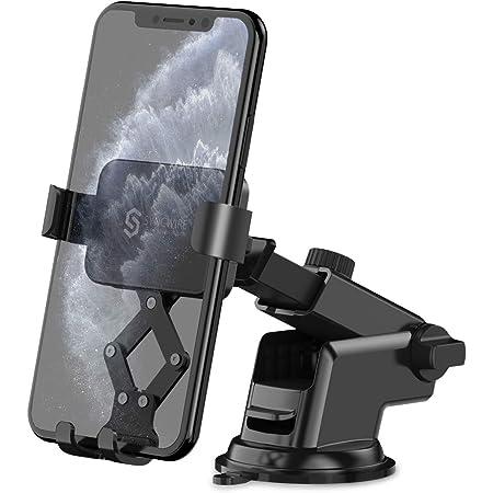 Syncwire Supporto Auto Smartphone Gravità - Porta Telefono per Cruscotto e Parabrezza Blocco Automatico Gravità Linkage[360° Rotazione] per iPhone 11/XS Max/XR/XS/X/8, Samsung, Huawei, Xiaomi ecc