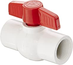 Hayward QVC1007TSEW Series QVC Compact Ball Valve, Threaded End, White, 3/4