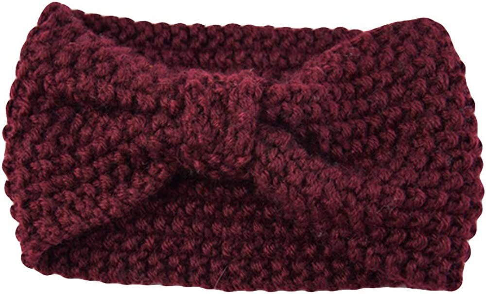 haoricu Knit Headbands Winter Ear Warmers for Women,Elastic Turban Head Wraps,Crochet Hair Band, Girls Cute Hair Band