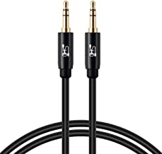 Aux Cable,SHD 3.5mm Audio Cable Aux for Car Auxiliary Audio Stereo Cable 3.5mm Cord Premium Sound Dual Shielded with Gold Plated Connectors-3Feet