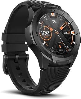 TicWatch S2 スマートウォッチ Wear OS by Google 5ATM防水&水泳対応 GPS内蔵 心拍計 ios&android対応 アウトドア メンズ 多機能腕時計 ブラック