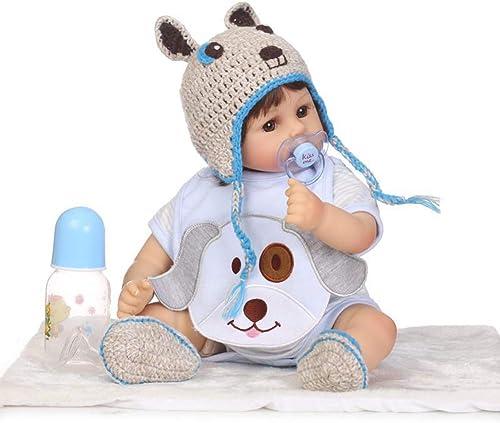 CHENG Baby Reborn Puppen Junge Spielzeug 18 InchToddler Puppe mit Augen  nen Silikon Mode Puppe Geschenk Set