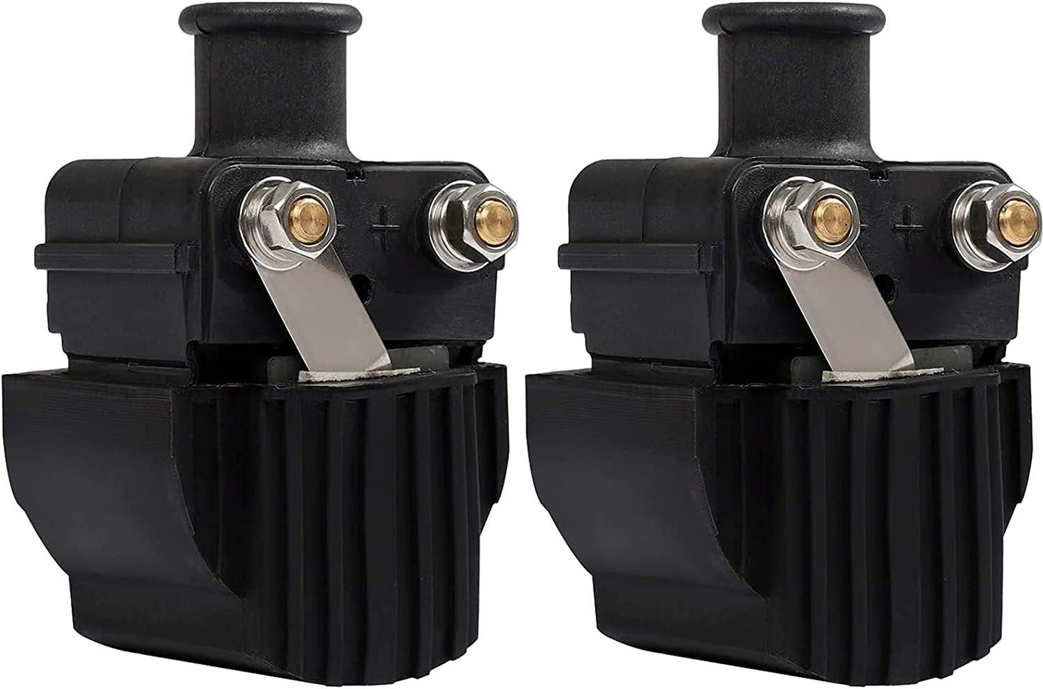 2 Pack Mercury Ignition Coil Sierra 18-5186 Ignition Coil Mercury Mariner for 6-125HP Outboard Boat Replaces 339-7370A13 339-832757A4 Mercury Outboard Ignition Coil