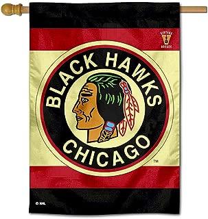 WinCraft Chicago Blackhawks Vintage Retro Two Sided House Flag