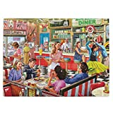 Rompecabezas para adultos, 520 piezas, American Diner, tarjeta de madera difícil de romper, rompecabezas nostálgico familiar, 51,8 x 38 cm