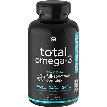 Total Omega-3 Fish Oil from Wild Sockeye Salmon, Alaskan Pollock, Antarctic Krill Oil, Astaxanthin + Phospholipids & Wax Esters for Better Absorption | 960mg of Non-GMO EPA & DHA (120 Softgels)