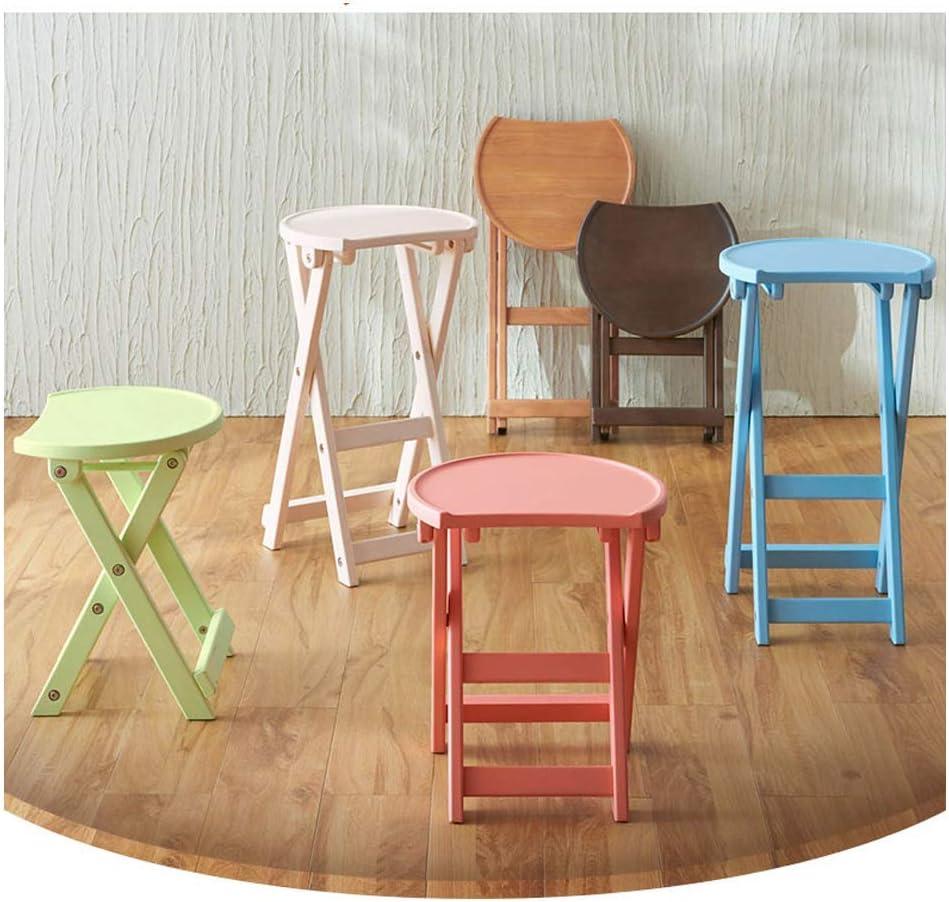DX Chaises de Salle à Manger Pliables/siège de Cuisine/Barres/Petit déjeuner, Bois d'hévéa, pour Salon/Bureau/Patio/terrasse/Bureau/pub, 6 Couleurs Green