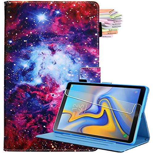 Billionn Für Samsung Galaxy Tab A7 10.4 Hülle 2020, PU Leder Klappständer Cover für Galaxy Tab A 7 (SM-T500/T505/T507 2020) mit Auto Sleep/Wake, Sternenhimmel