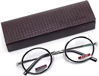 TT WARE Men Women Retro Round Presbyopic Glasses HD Comfortable Reading Glasses With Case-1.0