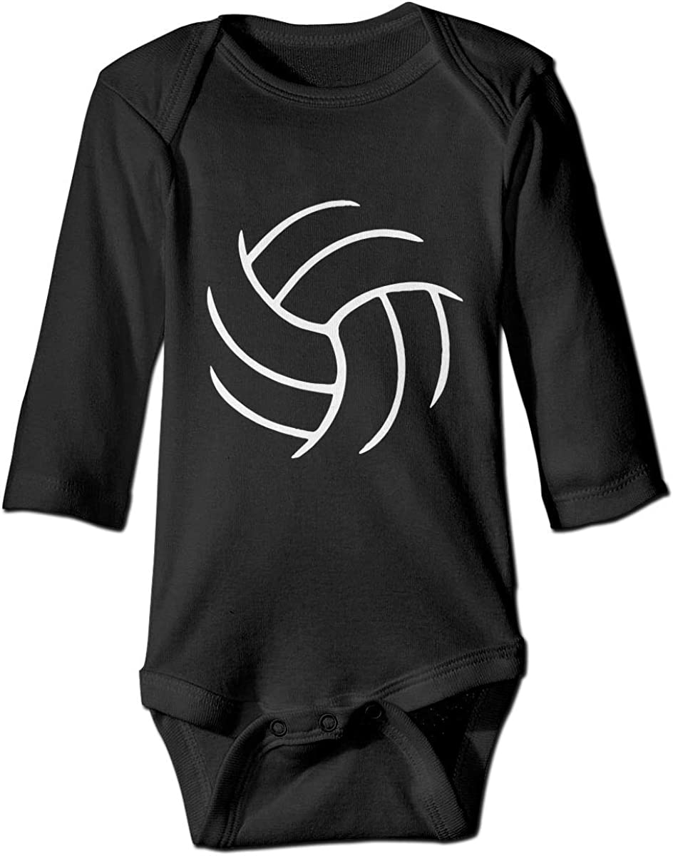 Meanting Printed Volleyball Cute Unisex Baby Long Sleeves Bodysuit Jumpsuit Outfits