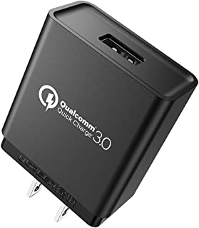 UGREEN Quick Charge 3.0 Wall Charger 18W Qualcomm Adapter for Samsung Galaxy S10, LG V40, V30, V20, HTC U Ultra, ZTE Axon M, Lenovo ZUK Z2 Pro, Moto Z2 Play, Z2 Force Sony Xperia XZ, Nokia 8