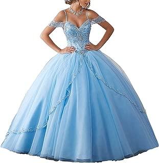 light blue quinceanera dresses