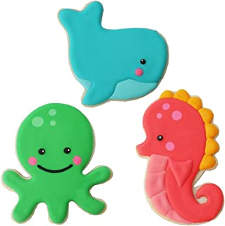 Sweet Elite Tools- Sea Critter Animals Stainless Steel Cookie Cutter Set: Seahorse, Octopus, and Whale By Autumn Carpenter