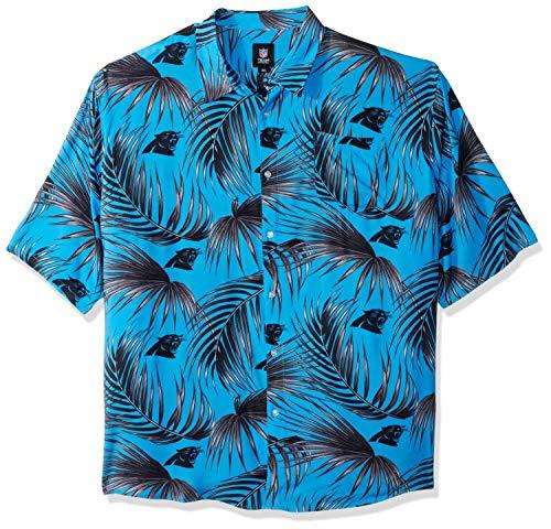 Carolina Panthers NFL Mens Hawaiian Button Up Shirt - S