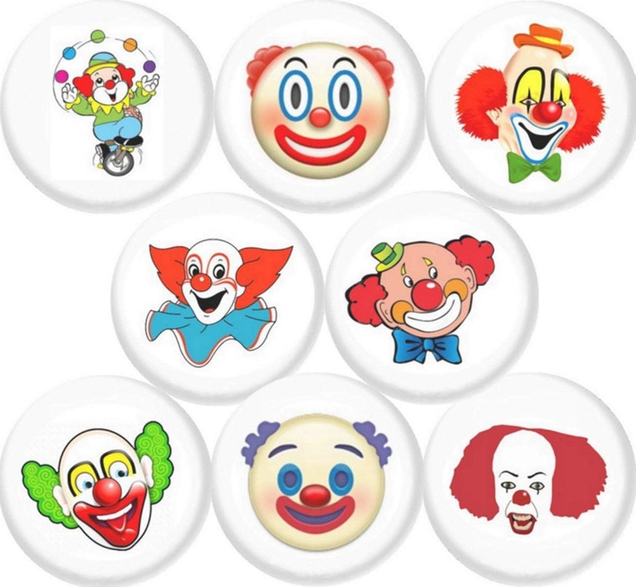 Clowns Set of 8 New 1