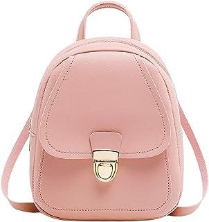 Zegeey Women's Headphone Hole Backpack Slung Student Shoulder Bags Mobile Phone Purse Pu Leather Cross Body Shoulder Bag C...