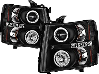 Spyder Auto 5009494 LED Halo Projector Headlights Black/Clear