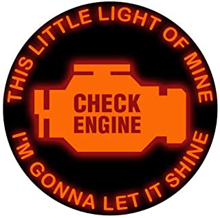 this little light of mine check engine sticker