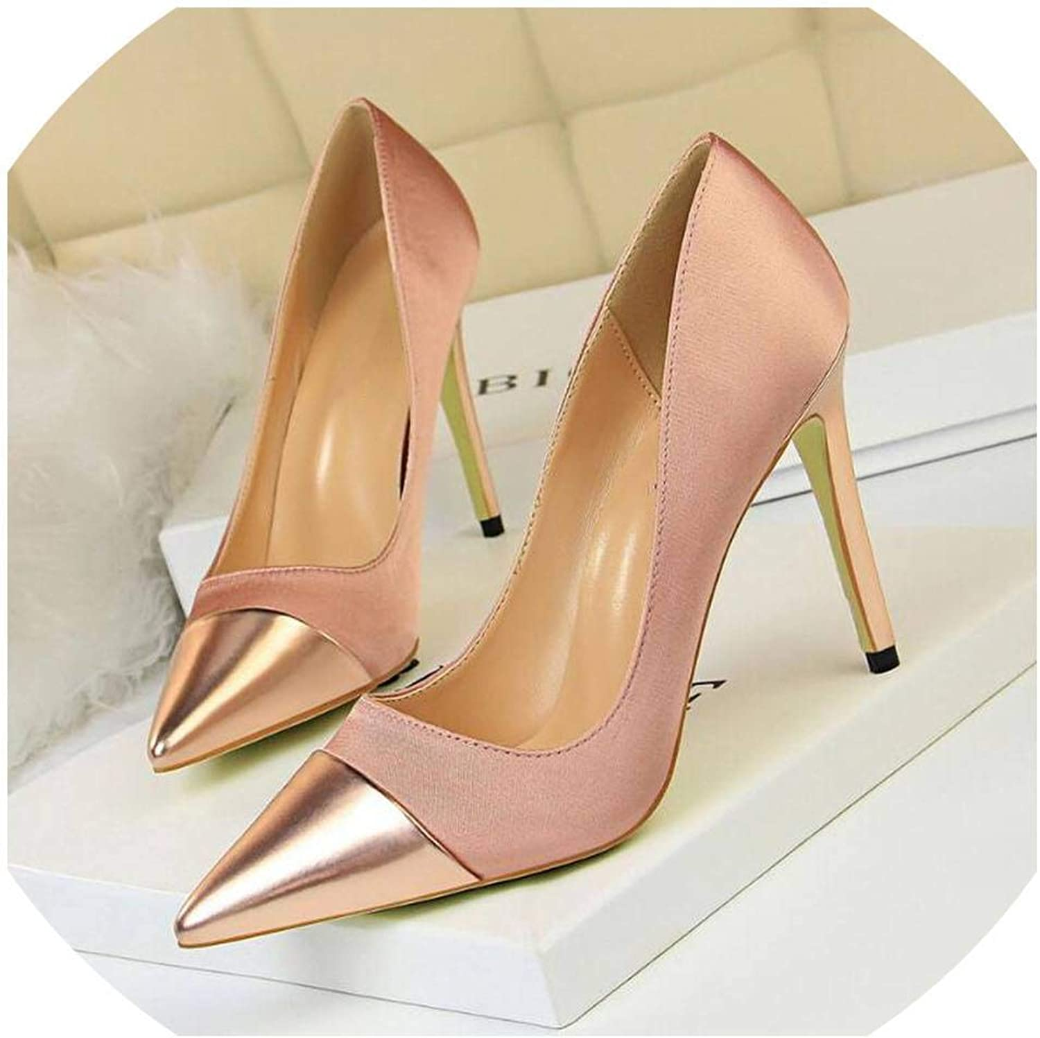 Patent Leather Thin Heels Office shoes Women Pumps Women's Pointed Toe