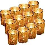 GBATERI 12 Pezzi Portacandele Votive in Vetro,Supporto per tealight a candela Votiva Cande...