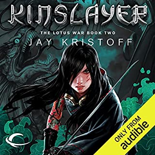 Kinslayer     The Lotus War, Book Two              Written by:                                                                                                                                 Jay Kristoff                               Narrated by:                                                                                                                                 Jennifer Ikeda                      Length: 19 hrs and 39 mins     4 ratings     Overall 4.8