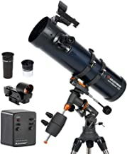 Celestron - AstroMaster 130EQ-MD Newtonian Telescope - Reflector Telescope for Beginners - Fully-Coated Glass Optics - Adjustable-Height Tripod - BONUS Astronomy Software Package