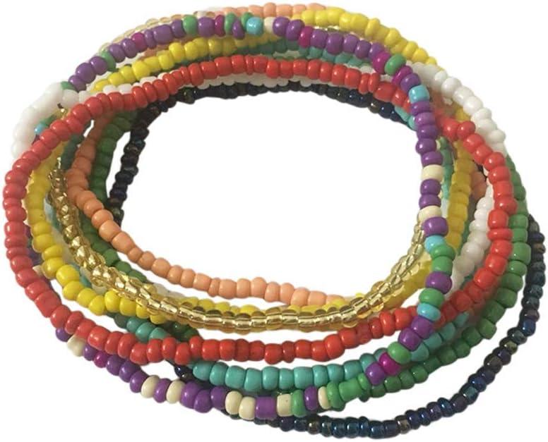 10Pcs Boho Beaded Anklet Beach Stretch Houston Mall Brac Bead gift Colorful