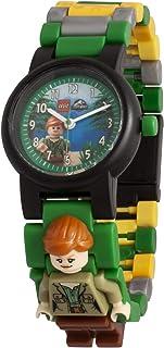 Orologio componibile da polso per bambini LEGO Jurassic World 8021278 con cinturino a maglie e minifigure Claire
