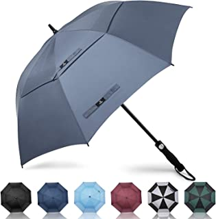 Prospo Golf Umbrella 62/68 inch Large Automatic Open Windproof Double Canopy Oversized Stick Vented Umbrellas