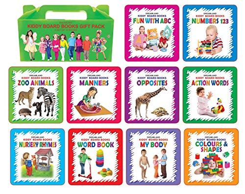 Kiddy Board Book - (10 Titels) Pack (English Edition)