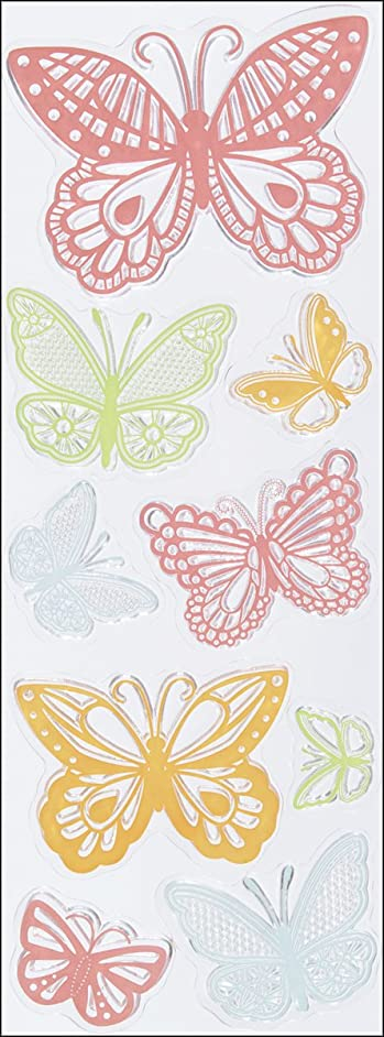 Martha Stewart Crafts Clear Stamps, Doily Lace Butterflies