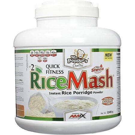AMIX - Harina de Arroz Blanco - RiceMash Mr Poppers - 1500 Gr - Alimento Bajo en Grasa - Endulzado con Stevia - Ideal para Recetas Fitness - Alimentos ...