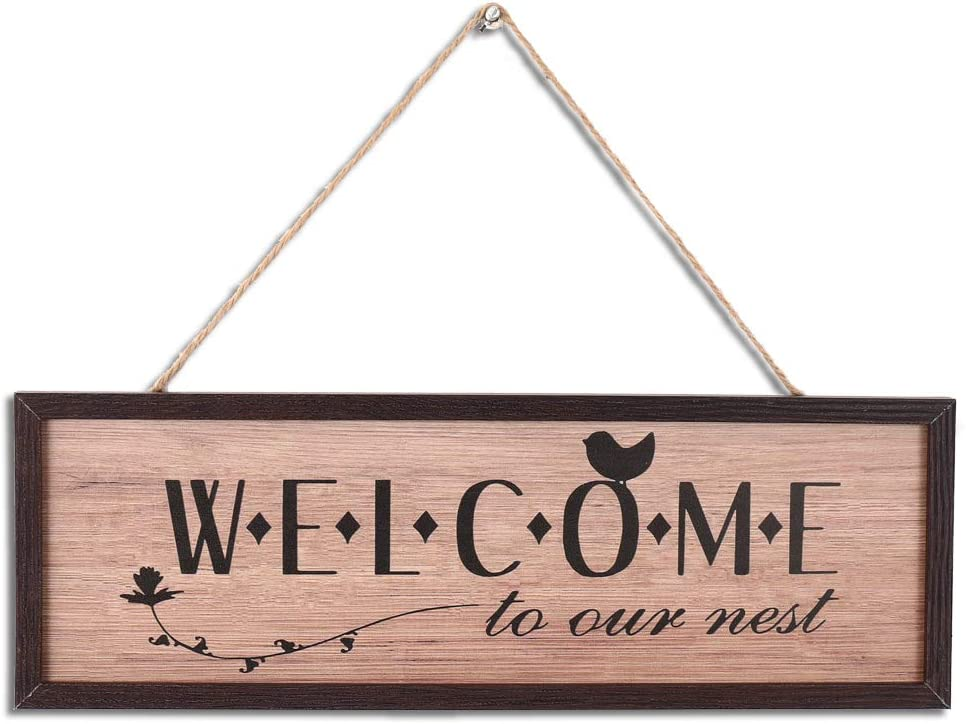 Rustic Wood Wall Art Sign Board Welcome Retro Vintage Slat Hanging Framed Wall Decorations Home Wall Decor Gift For Living Room Bedroom Kitchen Dining Room Farmhouse Entryway Sign Wall Pediments Home Kitchen Vit Edu Au