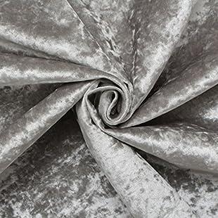 Customer reviews Ice Grey Fire Retardant Luxury Soft Plush Crushed Velvet Glitz Upholstery Cushion Fabric